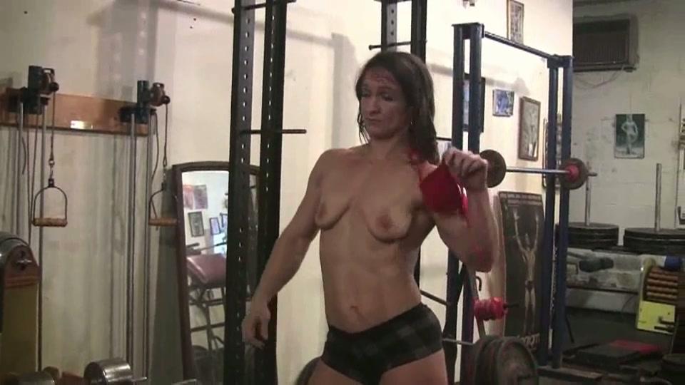 lesbos gozer wijf in de sportschool