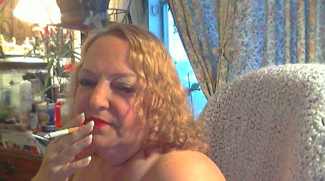 Dikke,oude,rokende webcamslet