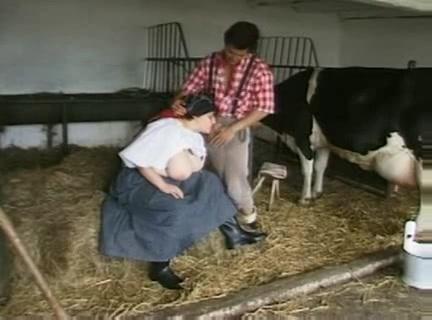2 boeren knechten berijden de boeren dochter
