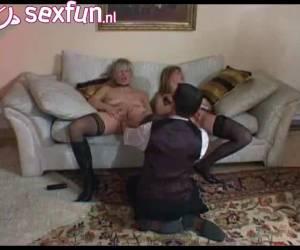 Butler stopt zijn vuisten in twee vrouwen